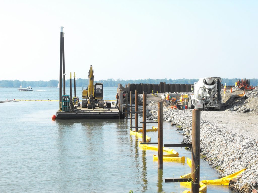 Marine structure design engineering services, pier construction management